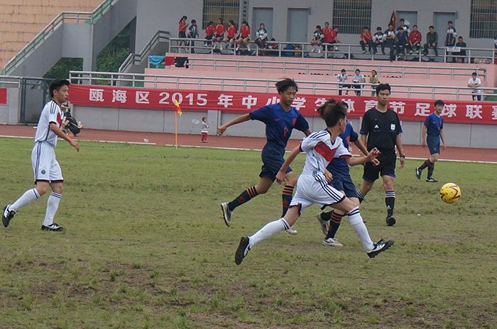 瓯海区2015年中小学生体育节初中联赛圆满结升学率鄞州足球图片
