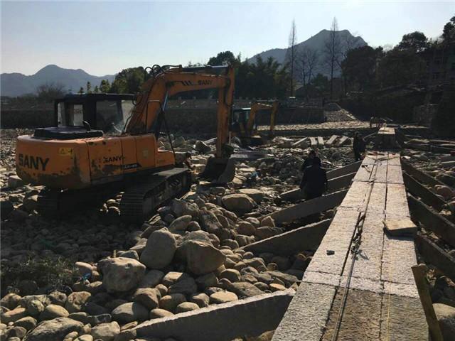 泽雅镇快马加鞭修复永宁桥开展工程在哪静海美食街图片