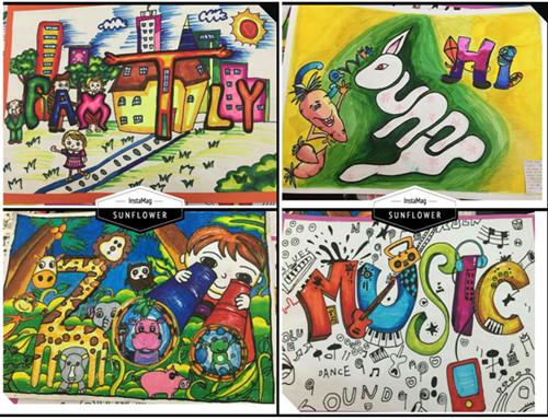 创意单词画将创意与无限遐想体现出来,充分展示了孩子们的创造力和图片