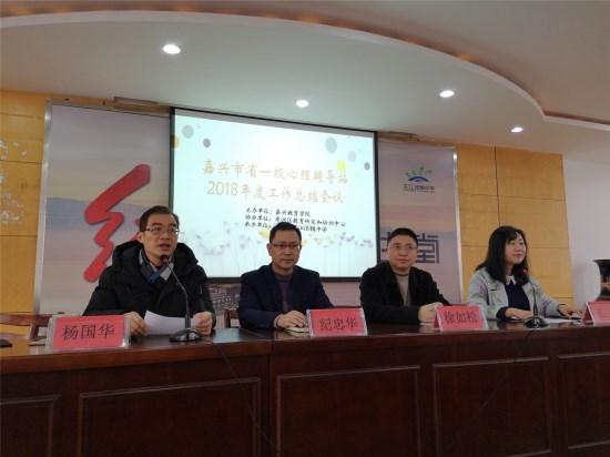 嘉兴市省中小学心理辅导一级站2018年度工作总结会议在王江泾镇中学举行