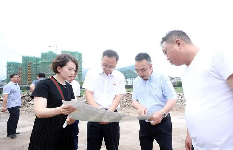 陈晨调研海游港北岸综合整治工程建设