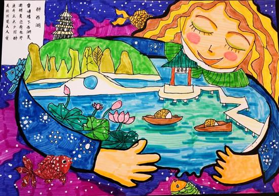 """""""西湖·多啦杯""""创意绘画大赛获奖作品出炉"""