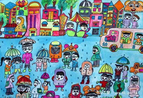 小学生校园绘画图片_家具