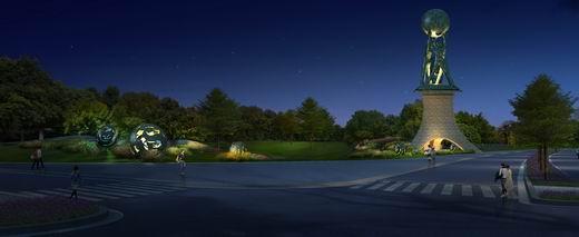 通途路雕塑区域道路绿化工程开工