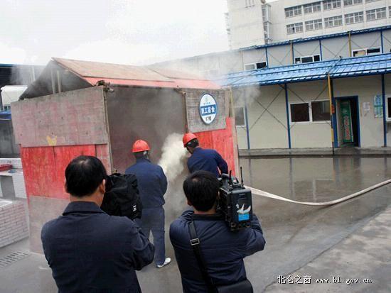 区住建局举办施工工地消防演练活动