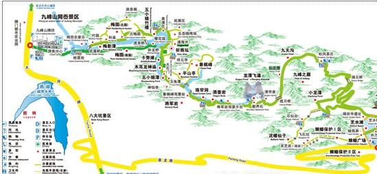 宁波手绘旅游地图