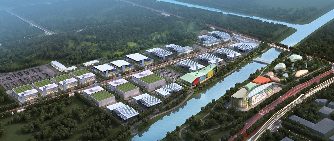 汽车城项目选址北仑滨江新城,小港街道境内,紧邻江南公路和绕城高速