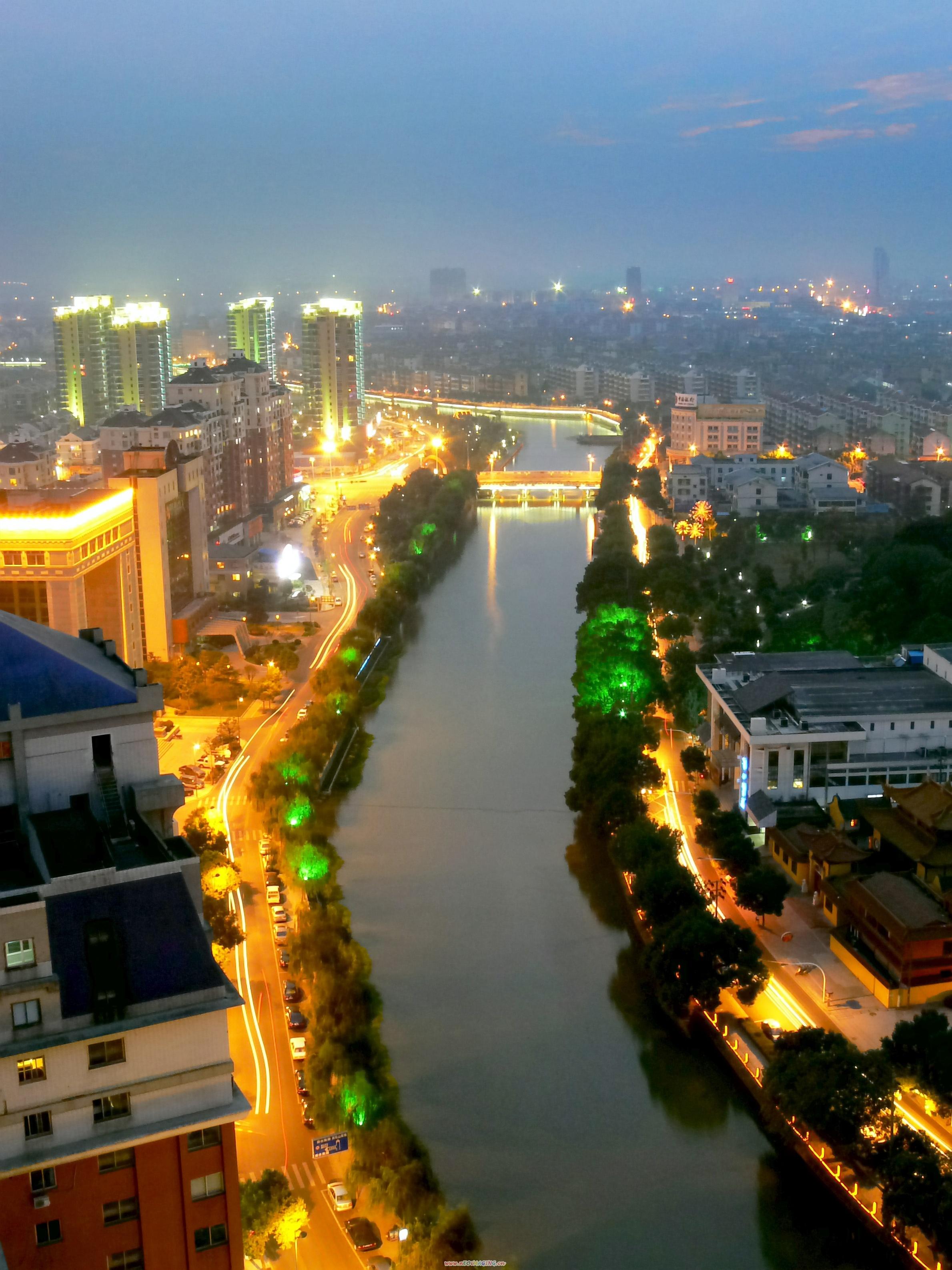 姚江之夜(摄于城区太平洋大酒店)