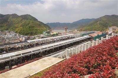 杭黄铁路千岛湖站雏形初现