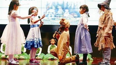 小学生用舞台剧读懂小学春天经典的色彩图片