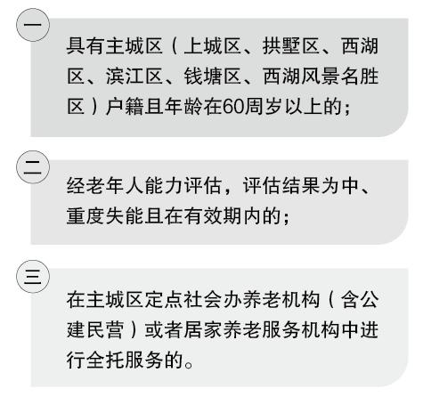 《杭州市失能老年人入住养老服务机构护理补贴实施办法》解读
