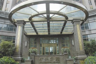 中央公馆入户门厅.高清图片