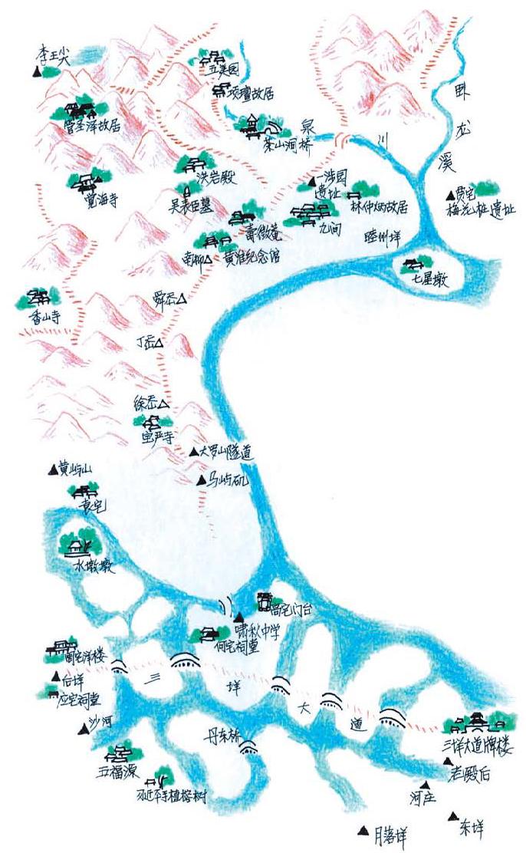 温州商学院手绘地图
