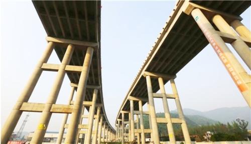 绕城高速公路西南线工程瑞安段进展顺利