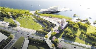 瓯江路景观堤岸道路一体化概念设计部分效果图.图片