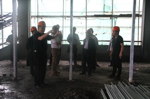 孔海龙副市长第三次现场督查温州八中瑶溪校区工程进度