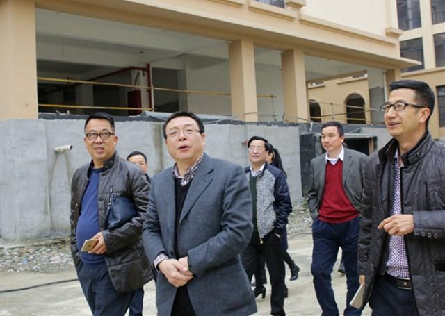 郑建海一行调研温州市教师教育院洞头分院工地
